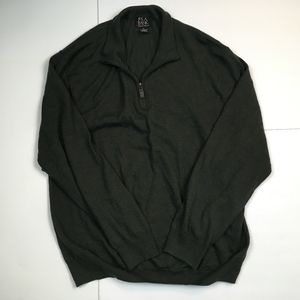JOS A BANK Half Zip Green Pullover Sweater